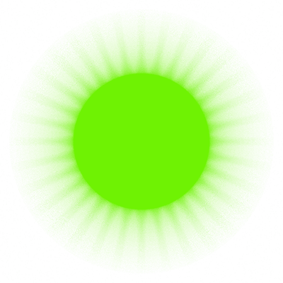 HTML Energy's lime green glowing star